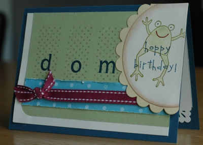 Dominic's birthday cards
