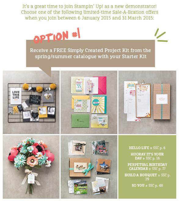 Join Stampin Up Option #1 with Michelle Last
