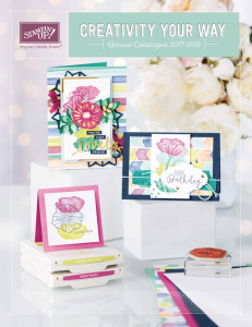 Stampin Up Annual Catalogue 2017/18