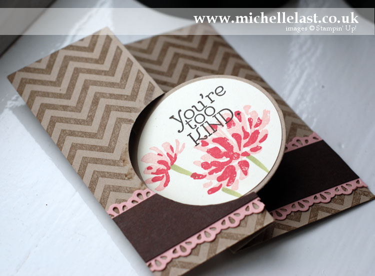 Sketch Challenge Card using Too Kind stamp set from Stampin' Up!