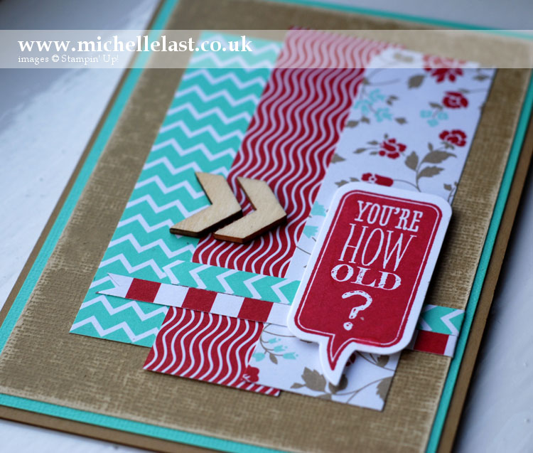Just Sayin 18th birthday card using Stampin Up products
