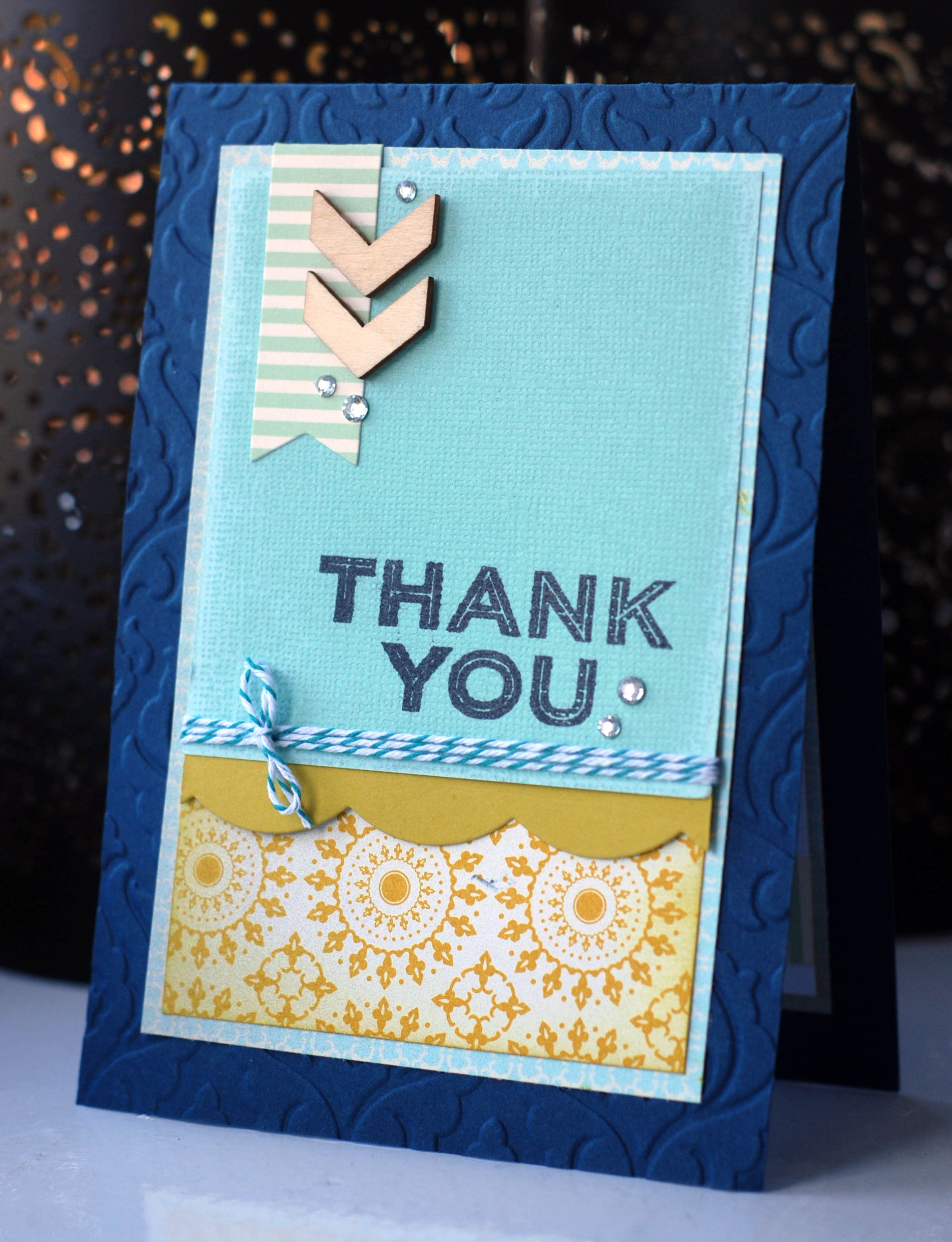 Handmade thank you card made using Simply Celebrate from Stampin' Up!