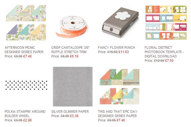 Stampin Up Weekly deals order with Michelle Last www.michellelast.co.uk