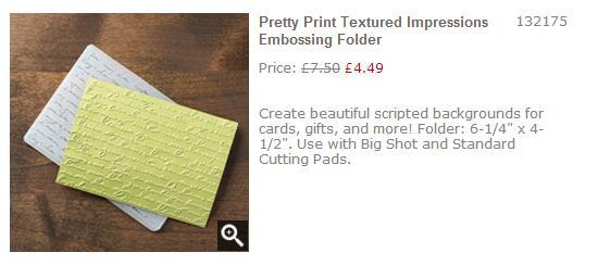 pretty print embossing folder stampin up