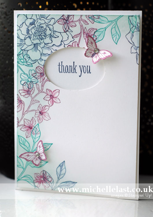 peaceful-petals stampin up card cased from Vicky Hayes
