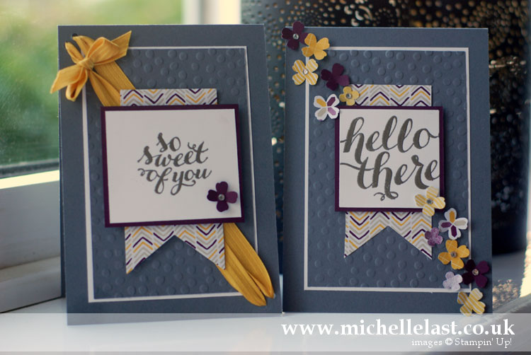 handmade card using Hello There from Stampin Up by Michelle Last