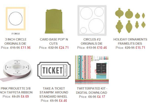 Stampin up UK weekly deals order online with MIchelle Last