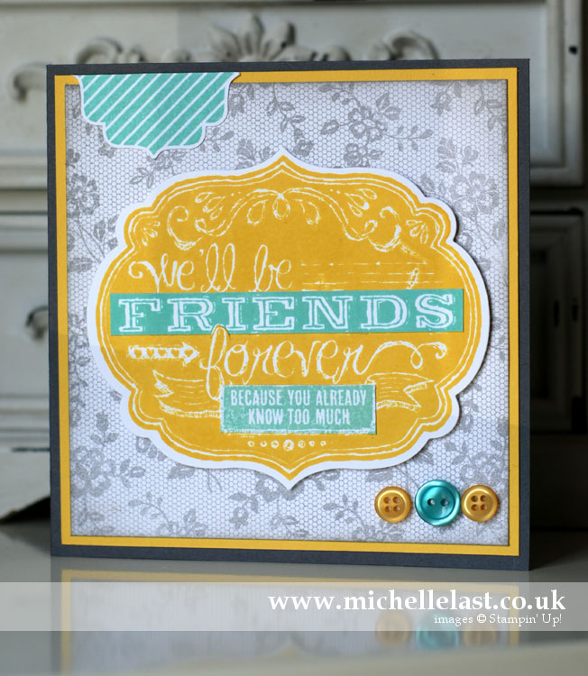 friends who know by stampin up