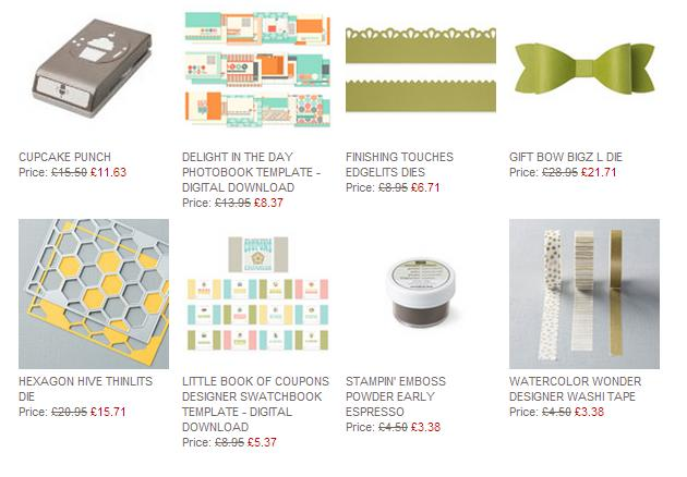 weekly deals from stampin up