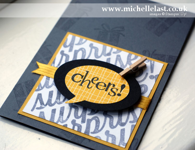 Cheers Card using Birthday Surprise from Stampin Up