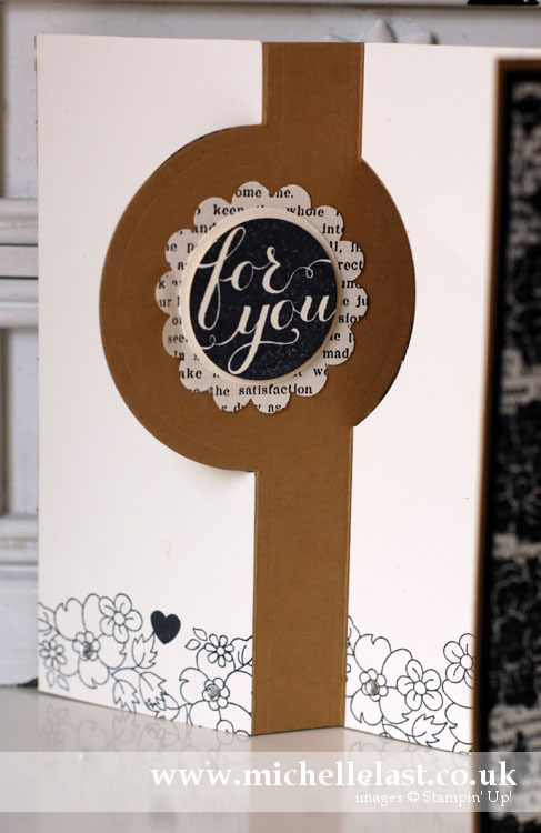 hello-darling card on the inside using stampin up