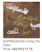 stampin up expression thinlits dies
