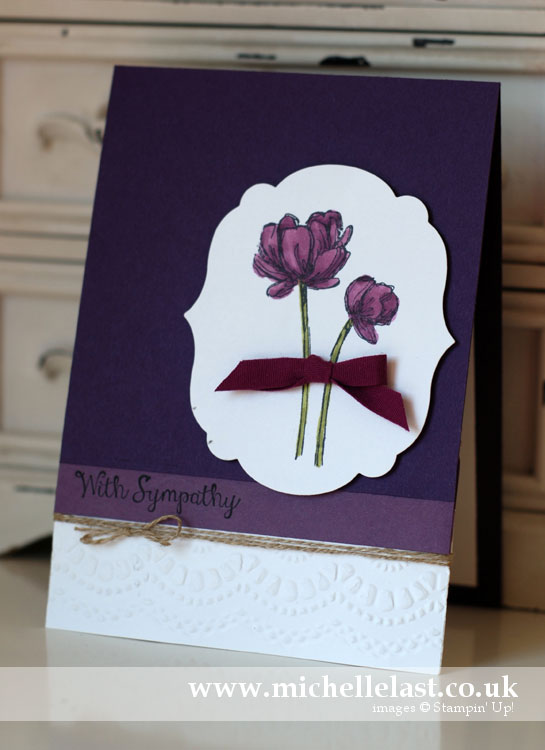 Sympathy-card using Stampin Up Bloom with Hope