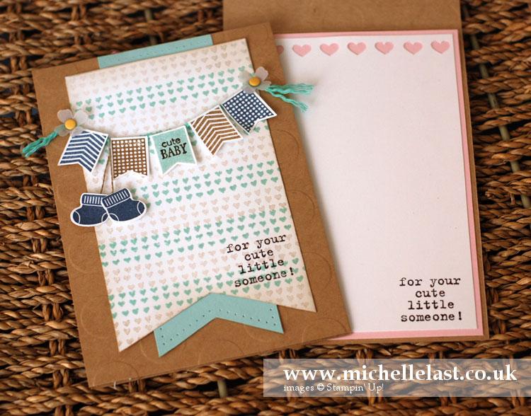 handmade baby card stampin up