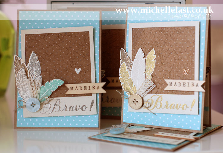 congratulations card using stampin up products