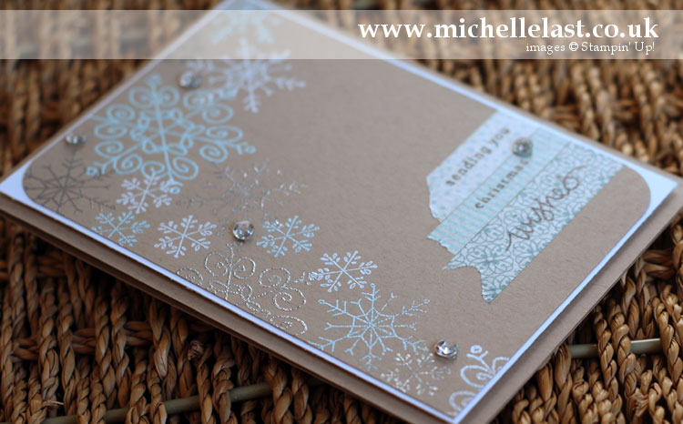 endless wishes snowflake christmas card