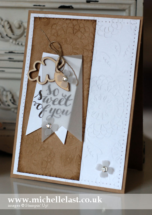 So Sweet of You from Stampin Up