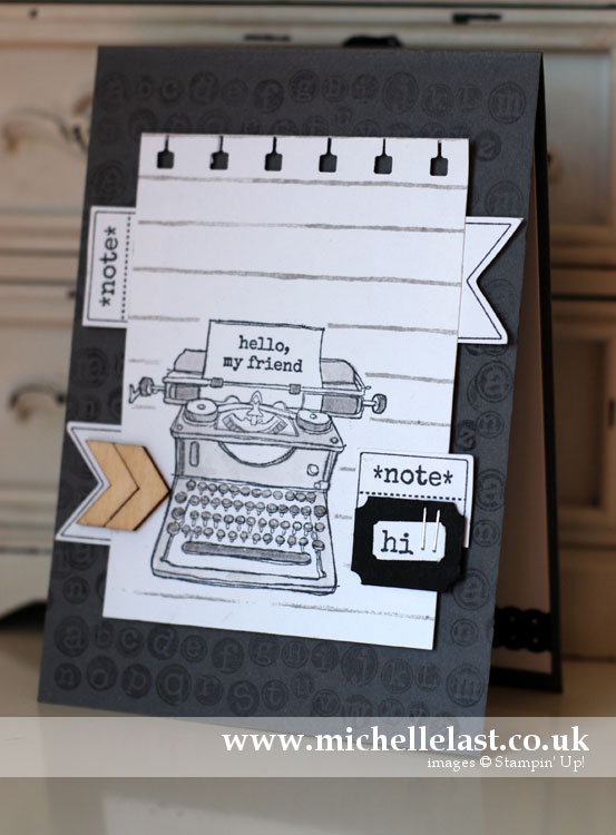 taptaptap from stampin up using a sketch