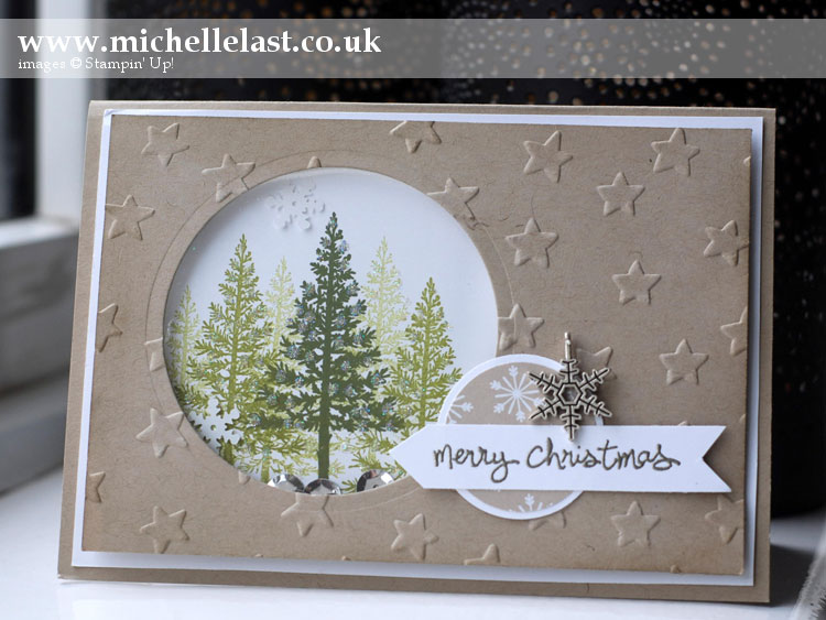 Festival-of-trees-shaker-card www.michellelast.co.uk