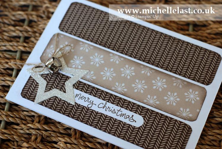 Star framelit Christmas card