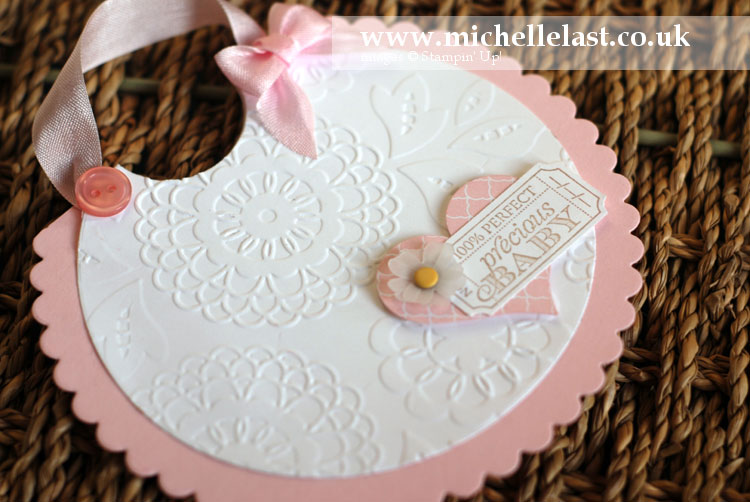 Baby bib card using stampin up products