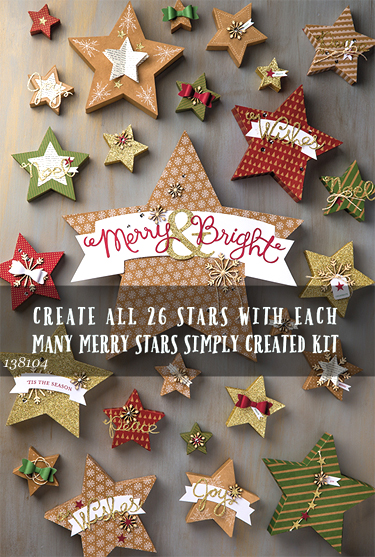 Many Merry Stars kit from Stampin Up