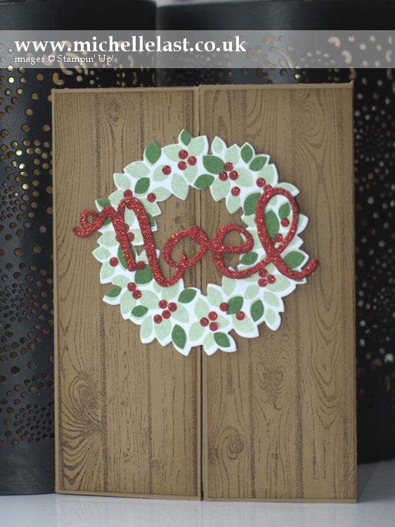 Christmas card using Wondrous wreath