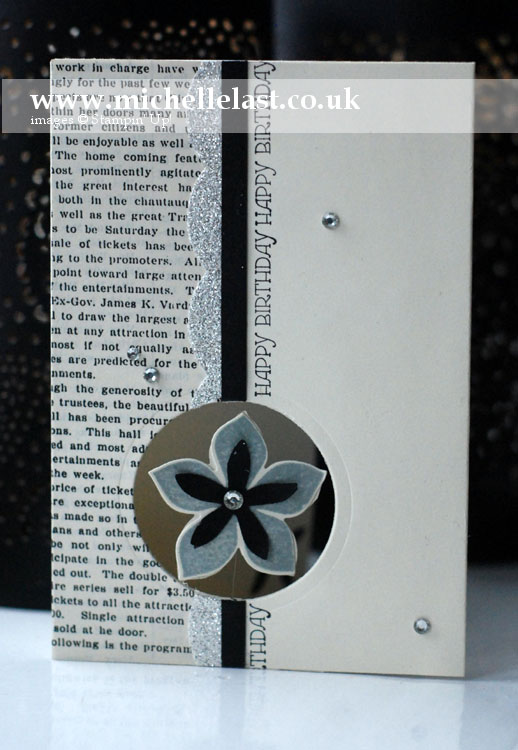 Flower patch spinner card