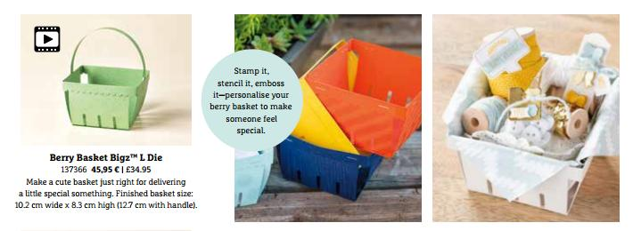 Berry basket die from Stampin Up