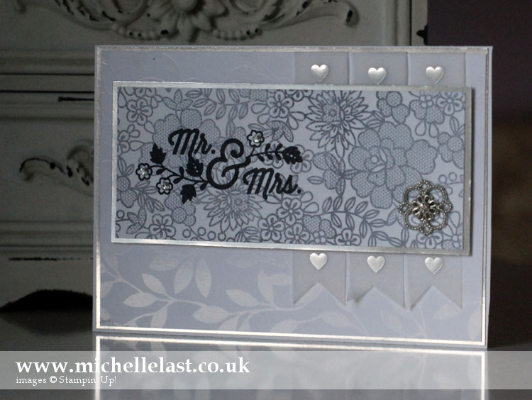 Stampin Up Wedding card by Michelle Last