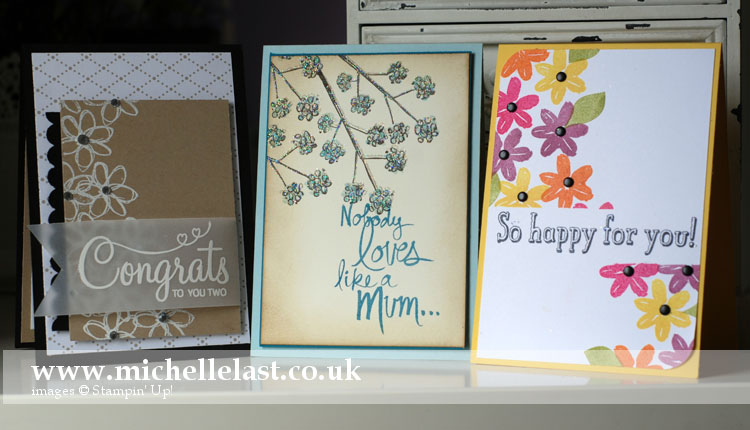 Card making class using Mums Love from Stampin Up
