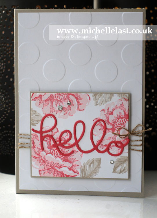 Stippled-Blossom from Stampin Up