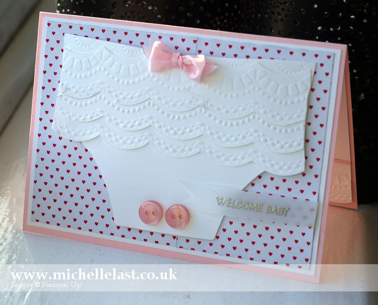 handmade baby card using stampin up products