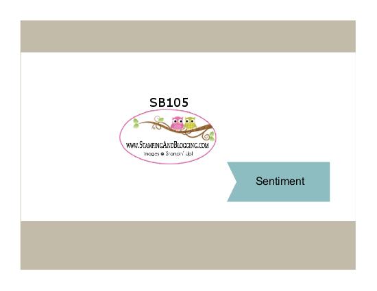 SB105 stamping&blogging sketch challenge