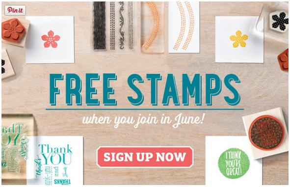 free stamps joining offer stampin up