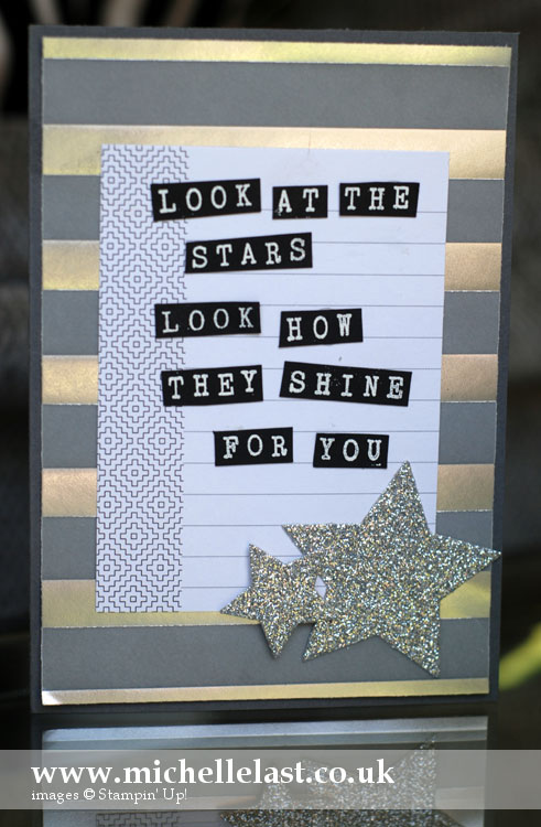 #tgif card challenge using stampin up products