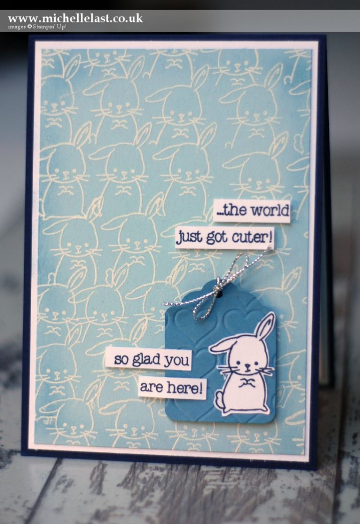 Made with Love baby card from Stampin' Up!