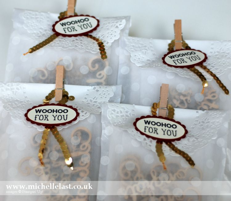 Sketched Dots Gift Bags from Stampin Up