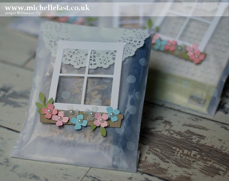Window frame treat bags