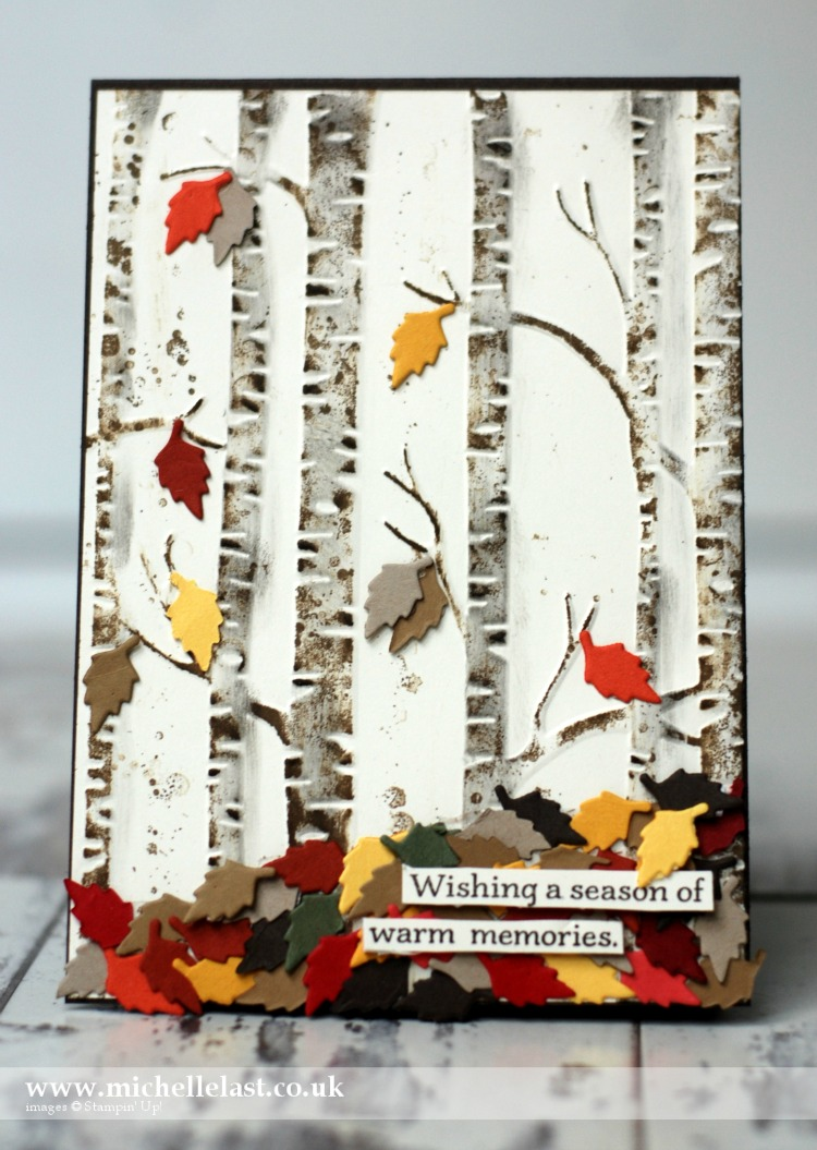 Woodland Embossing Folder Autumn