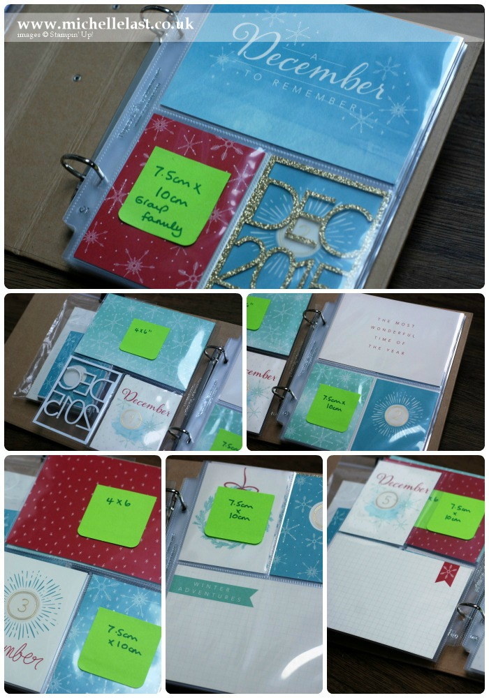 Project Life by Stampin Up for Dec Daily 1-5