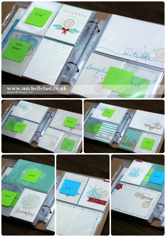 Project Life by Stampin Up for Dec Daily 15-23