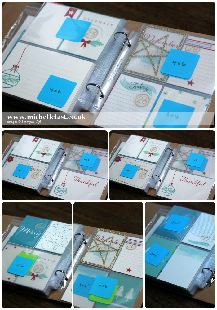 Project Life by Stampin Up for Dec Daily 25-31