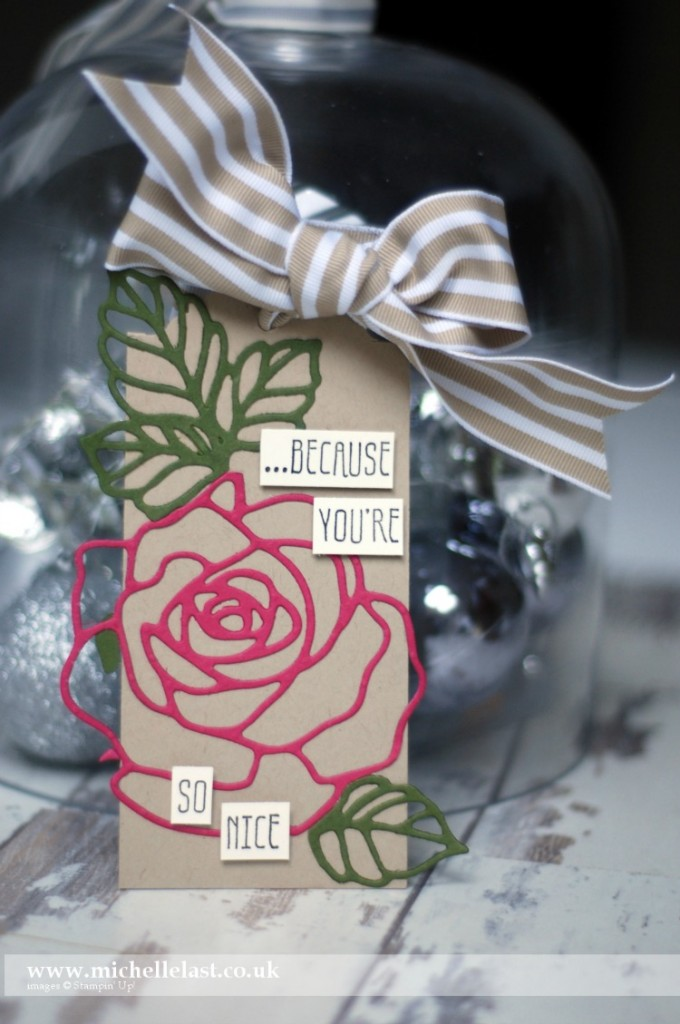 #GDP017 using Rose Garden Thinlits from Stampin Up