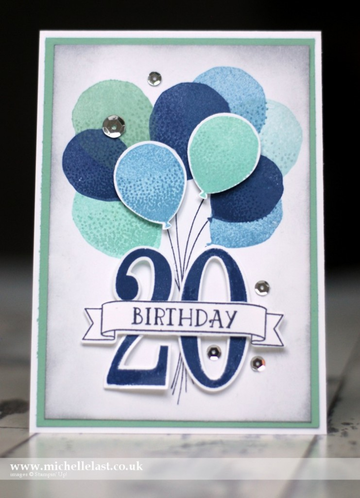 Birthday Balloon Celebration using Stampin Up supplies