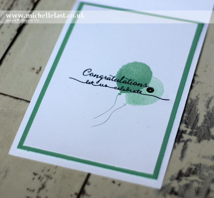 Balloon Celebration Birthday Card using Stampin Up products