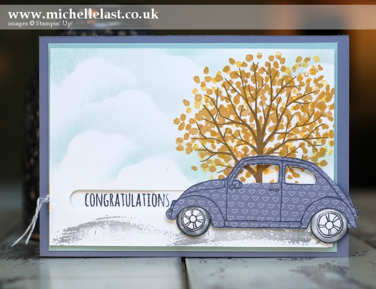 Beautiful Ride Driving Test using Stampin Up!