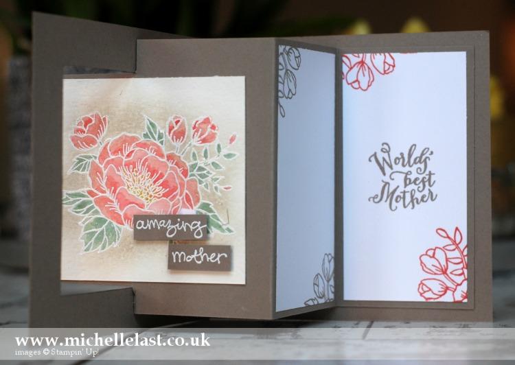 Birthday Blooms Fancy Fold Card