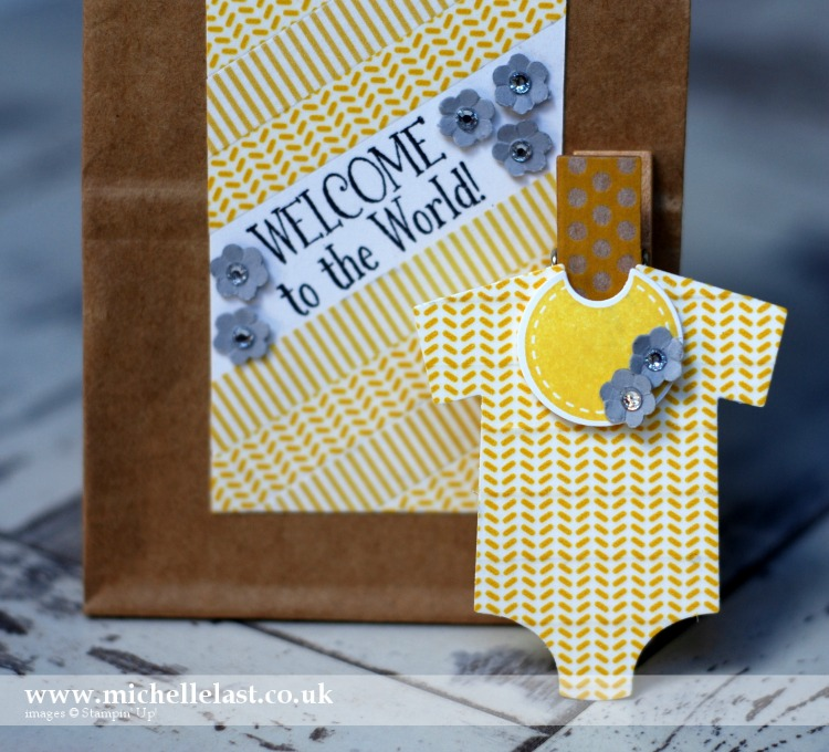 Baby Gift using Washi Tape from Stampin Up by Michelle Last