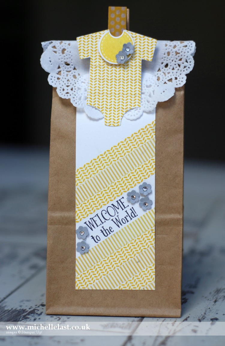 Washi tape baby gift by Michelle Last